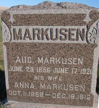 MARKUSEN, AUGUST & ANNA - Woodbury County, Iowa | AUGUST & ANNA MARKUSEN