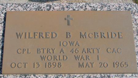 MC BRIDE, WILFRED B. - Woodbury County, Iowa   WILFRED B. MC BRIDE