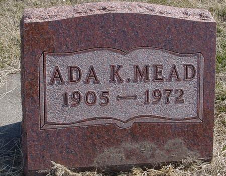 MEAD, ADA K. - Woodbury County, Iowa | ADA K. MEAD
