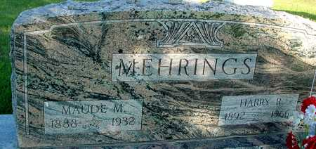 MEHRINGS, HARRY & MAUDE - Woodbury County, Iowa | HARRY & MAUDE MEHRINGS