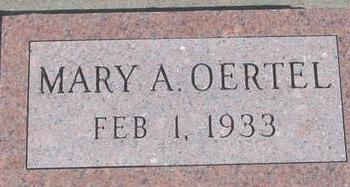 OERTEL, MARY A. - Woodbury County, Iowa | MARY A. OERTEL