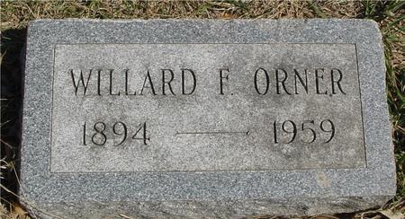 ORNER, WILLARD F. - Woodbury County, Iowa | WILLARD F. ORNER
