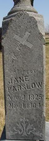 PARSLOW, JANE - Woodbury County, Iowa | JANE PARSLOW