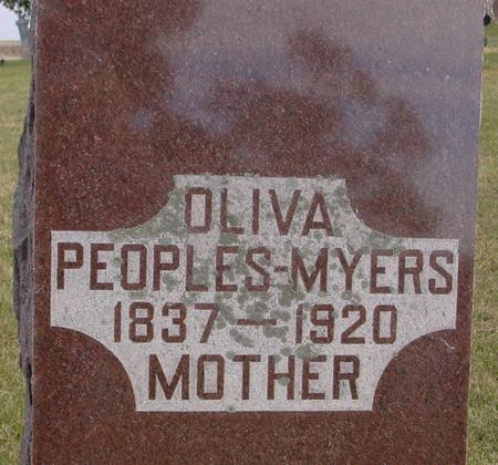 PEOPLE-MYERS, OLIVA - Woodbury County, Iowa | OLIVA PEOPLE-MYERS
