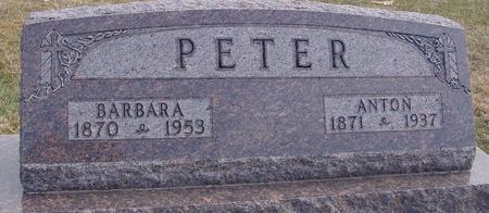 PETER, ANTON & BARBARA - Woodbury County, Iowa | ANTON & BARBARA PETER