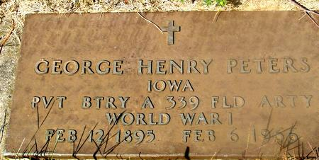 PETERS, GEORGE HENRY - Woodbury County, Iowa | GEORGE HENRY PETERS