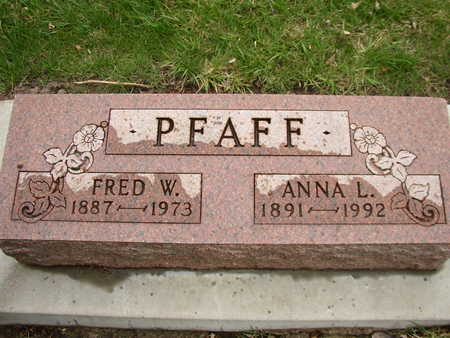 PFAFF, FRED - Woodbury County, Iowa | FRED PFAFF