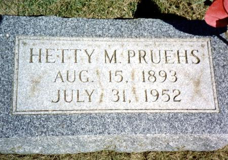 PRUEHS, HETTY  M. - Woodbury County, Iowa | HETTY  M. PRUEHS
