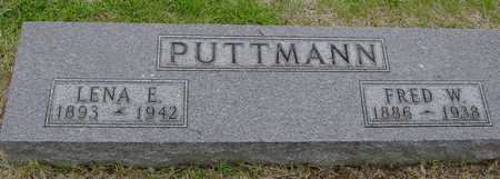 PUTTMANN, FRED & LENA - Woodbury County, Iowa   FRED & LENA PUTTMANN