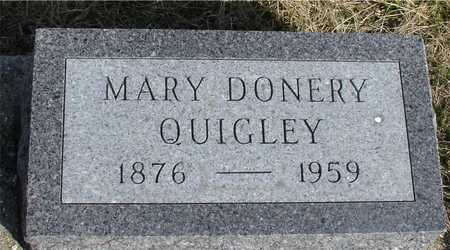 DONERY QUIGLEY, MARY - Woodbury County, Iowa | MARY DONERY QUIGLEY