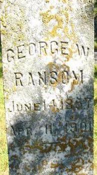 RANSOM, GEORGE W. - Woodbury County, Iowa | GEORGE W. RANSOM