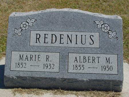 REDENIUS, ALBERT & MARIE - Woodbury County, Iowa | ALBERT & MARIE REDENIUS