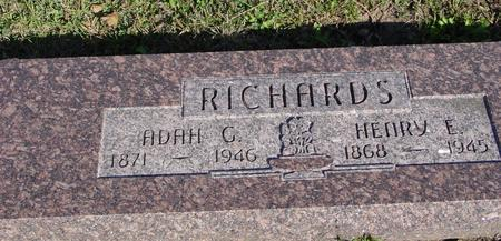 RICHARDS, HENRY & ADAH - Woodbury County, Iowa | HENRY & ADAH RICHARDS