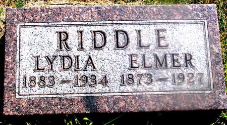 RIDDLE, ELMER & LYDIA - Woodbury County, Iowa | ELMER & LYDIA RIDDLE