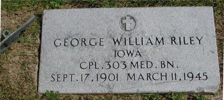 RILEY, GEORGE WM. - Woodbury County, Iowa   GEORGE WM. RILEY