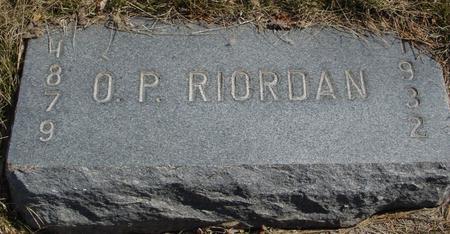 RIORDAN, O. P. - Woodbury County, Iowa | O. P. RIORDAN