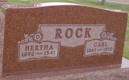 ROCK, CARL & HERTHA - Woodbury County, Iowa | CARL & HERTHA ROCK