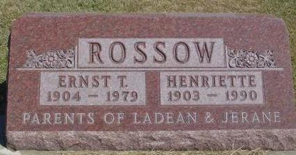 ROSSOW, ERNST & HENRIETTE - Woodbury County, Iowa | ERNST & HENRIETTE ROSSOW