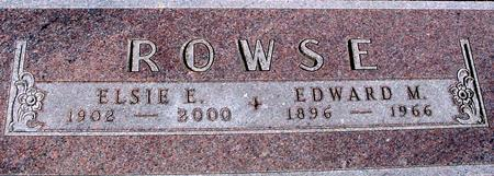 ROWSE, EDWARD & ELSIE - Woodbury County, Iowa | EDWARD & ELSIE ROWSE