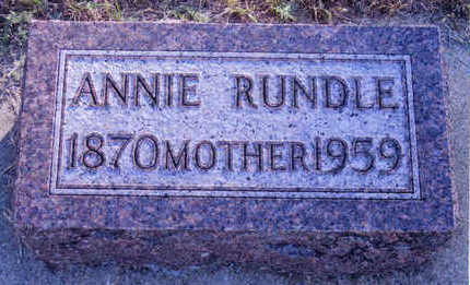 RUNDLE, ANNIE - Woodbury County, Iowa | ANNIE RUNDLE