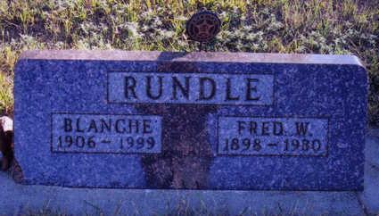 RUNDLE, FRED - Woodbury County, Iowa   FRED RUNDLE