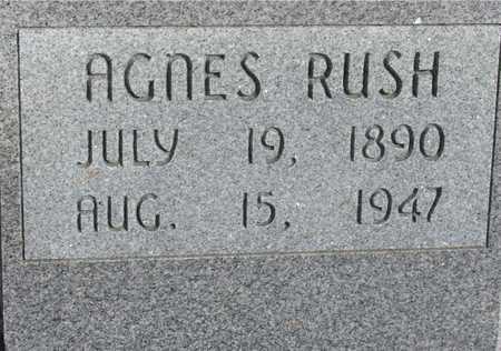 RUSH, AGNES - Woodbury County, Iowa   AGNES RUSH