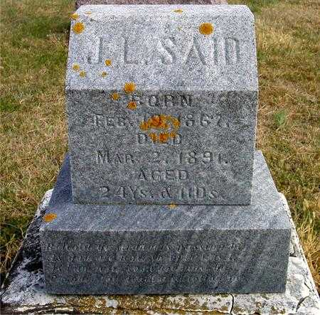 SAID, J. L. - Woodbury County, Iowa | J. L. SAID