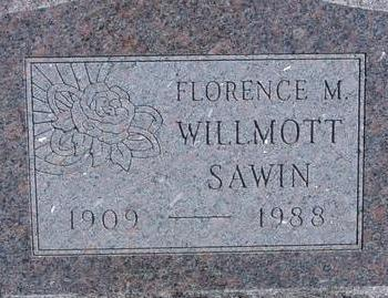 WILLMOTT SAWIN, FLORENCE - Woodbury County, Iowa | FLORENCE WILLMOTT SAWIN