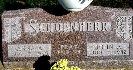 SCHOENHERR, JOHN A. & ANNA A. - Woodbury County, Iowa | JOHN A. & ANNA A. SCHOENHERR