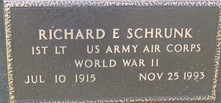 SCHRUNK, RICHARD E. - Woodbury County, Iowa | RICHARD E. SCHRUNK