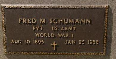 SCHUMANN, FRED M. - Woodbury County, Iowa | FRED M. SCHUMANN