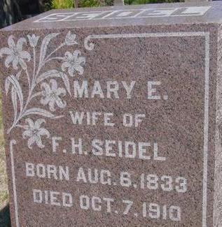 SEIDEL, MARY E. - Woodbury County, Iowa | MARY E. SEIDEL