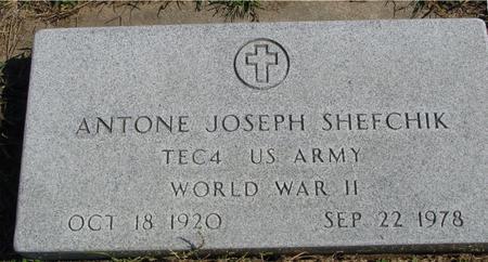 SHEFCHIK, ANTONE JOSEPH - Woodbury County, Iowa | ANTONE JOSEPH SHEFCHIK
