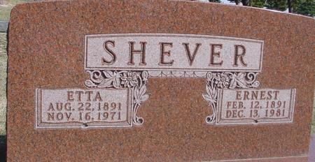 SHEVER, ERNEST & ETTA - Woodbury County, Iowa | ERNEST & ETTA SHEVER