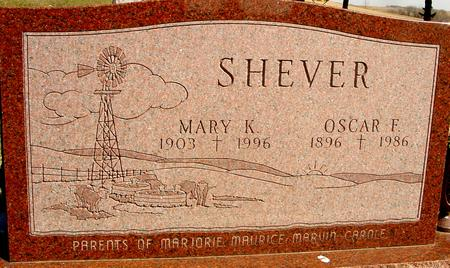 SHEVER, OSCAR F & MARY K. - Woodbury County, Iowa | OSCAR F & MARY K. SHEVER
