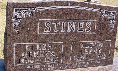 STINES, LLOYD & ELLEN G. - Woodbury County, Iowa | LLOYD & ELLEN G. STINES