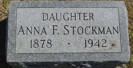 STOCKMAN, ANNA F. - Woodbury County, Iowa | ANNA F. STOCKMAN