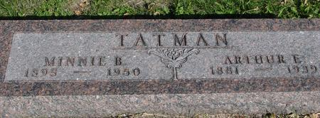 TATMAN, ARTHUR & MINNIE - Woodbury County, Iowa | ARTHUR & MINNIE TATMAN