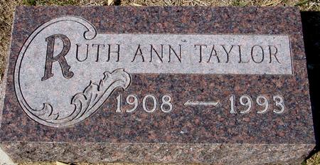 TAYLOR, RUTH ANN - Woodbury County, Iowa | RUTH ANN TAYLOR