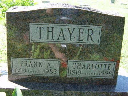 THAYER, FRANK A. - Woodbury County, Iowa | FRANK A. THAYER
