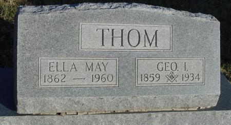 THOM, GEORGE & ELLA MAY - Woodbury County, Iowa | GEORGE & ELLA MAY THOM