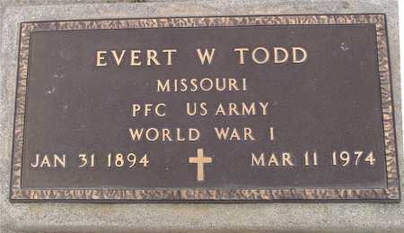 TODD, EVERT W. - Woodbury County, Iowa | EVERT W. TODD