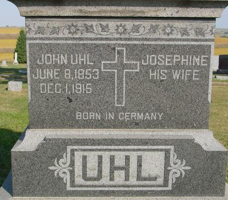UHL, JOHN & JOSEPHINE - Woodbury County, Iowa | JOHN & JOSEPHINE UHL