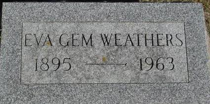 GEM WEATHERS, EVA - Woodbury County, Iowa | EVA GEM WEATHERS