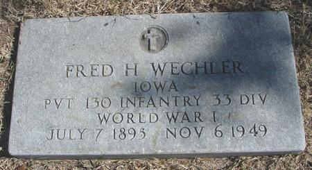 WECHLER, FRED H. - Woodbury County, Iowa | FRED H. WECHLER