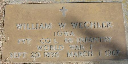 WECHLER, WILLIAM W. - Woodbury County, Iowa   WILLIAM W. WECHLER