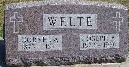 WELTE, JOSEPH & CORNELIA - Woodbury County, Iowa | JOSEPH & CORNELIA WELTE