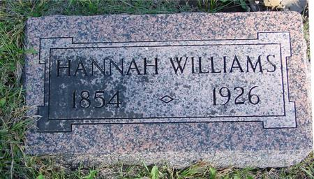WILLIAMS, HANNAH - Woodbury County, Iowa | HANNAH WILLIAMS