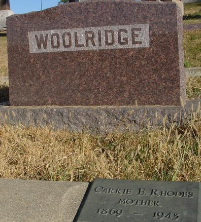 WOOLRIDGE, CARRIE E. - Woodbury County, Iowa | CARRIE E. WOOLRIDGE