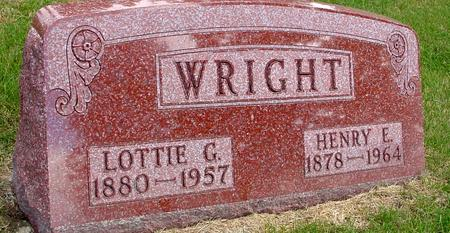 WRIGHT, HENRY E. & LOTTIE G. - Woodbury County, Iowa | HENRY E. & LOTTIE G. WRIGHT